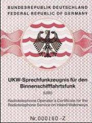 Picture of UKW Sprechfunkzeugnis für den Binnenfunk UBI
